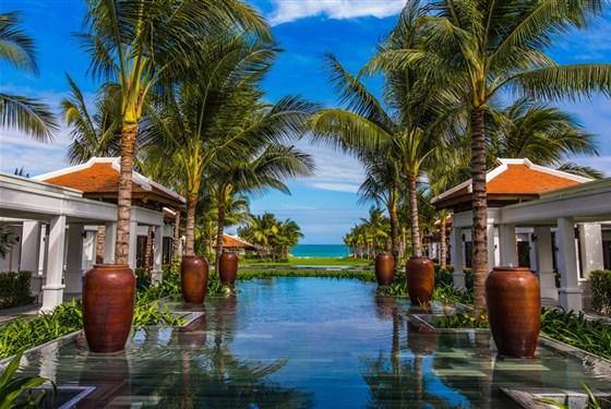 Marco Polo - Nha Trang - The Anam - pohled do zahrady