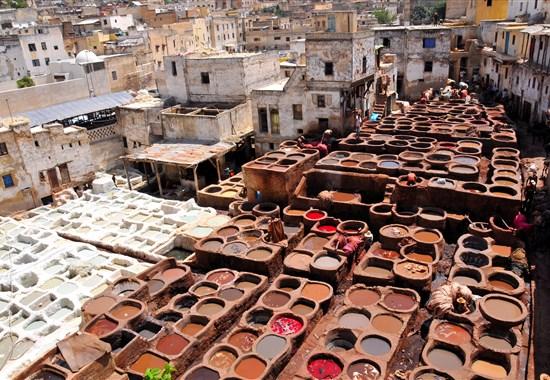 Královská cesta Marokem s českým průvodcem - Afrika - Barvírna ve Fes
