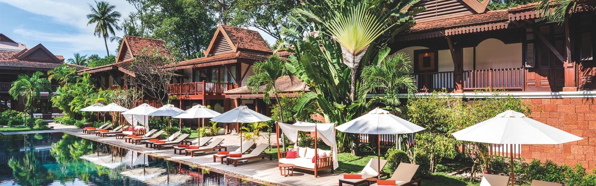 Belmond La Résidence d´Angkor - Po návratu z prohlídek chrámů je odpočinek u bazénu výbornou relaxací.