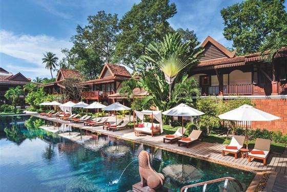 Marco Polo - Belmond La Résidence d´Angkor - Po návratu z prohlídek chrámů je odpočinek u bazénu výbornou relaxací.