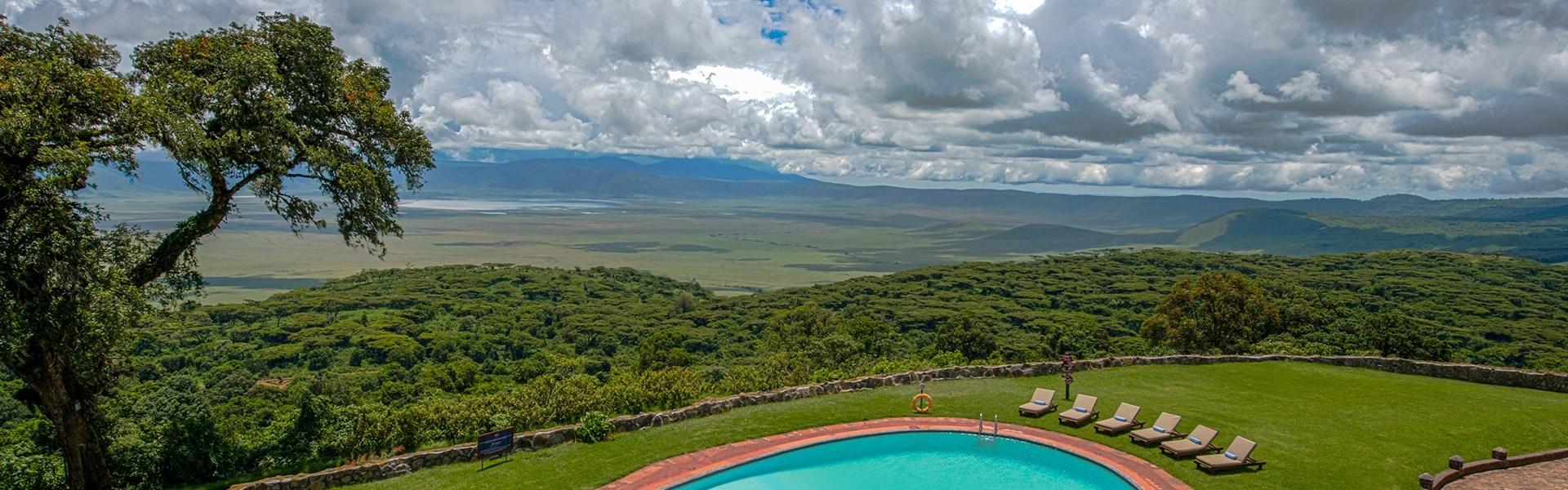 Marco Polo - Ngorongoro Sopa Lodge - Ngorongoro Sopa Lodge je postavena na hraně kaldery. Užijte si nádherný výhled do kráteru