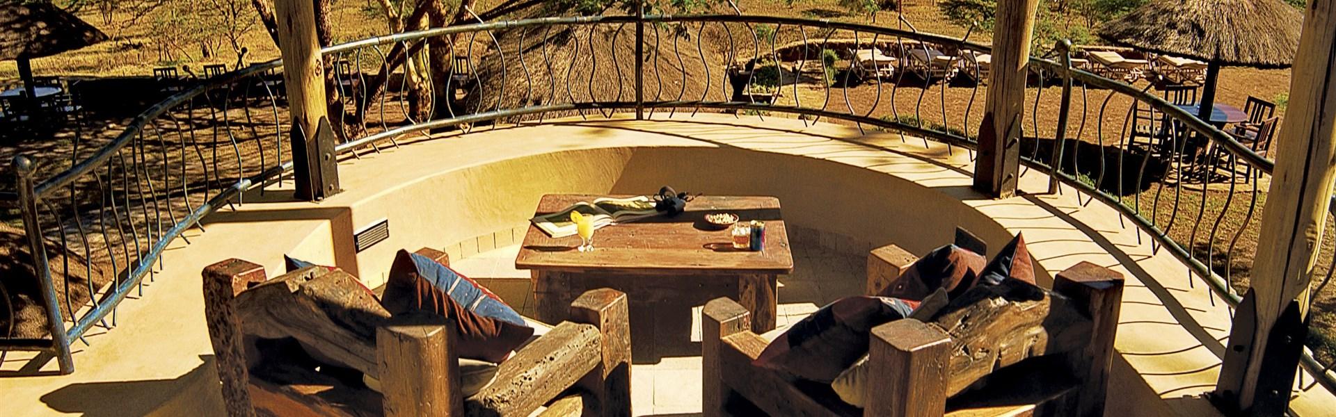 Marco Polo - Serengeti Sopa Lodge - Výhled do rozlehlých plání Serengeti je pro Sopa Lodge typický.