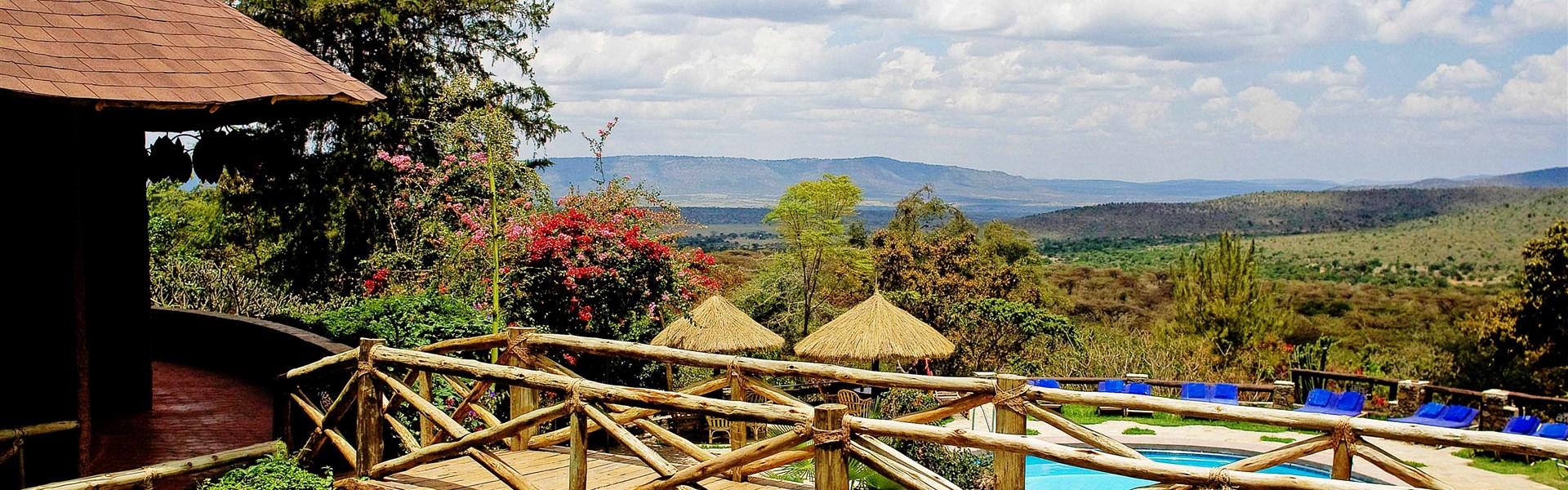 Marco Polo - Masai Mara Sopa Lodge - Od bazénu je hezký výhled do okolní krajiny. Masai Mara Sopa Lodge je perfektním zázemím pro vaše safari.