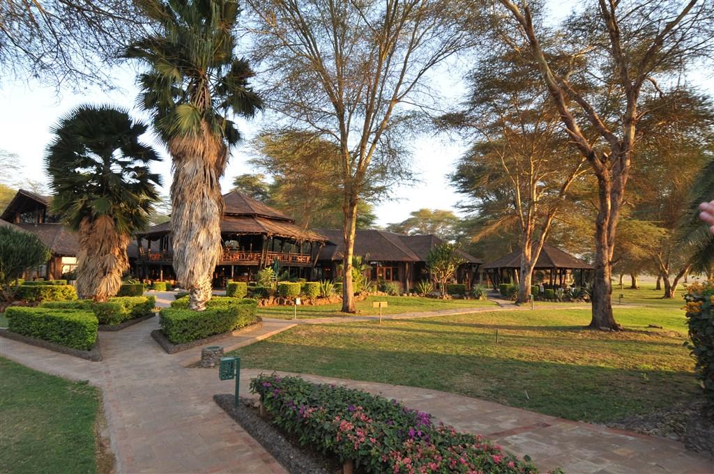 Ol Tukai Amboseli se nachází v jedné z nejkrásnějších lokalit parku.