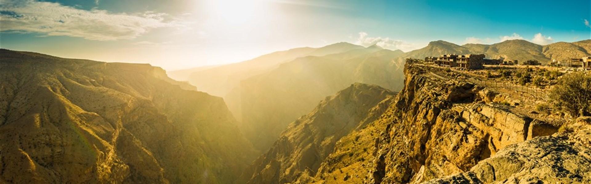 Off-Roadem do ománských hor + poušť + moře (self drive) - Ománské hory Jabal Akhdar