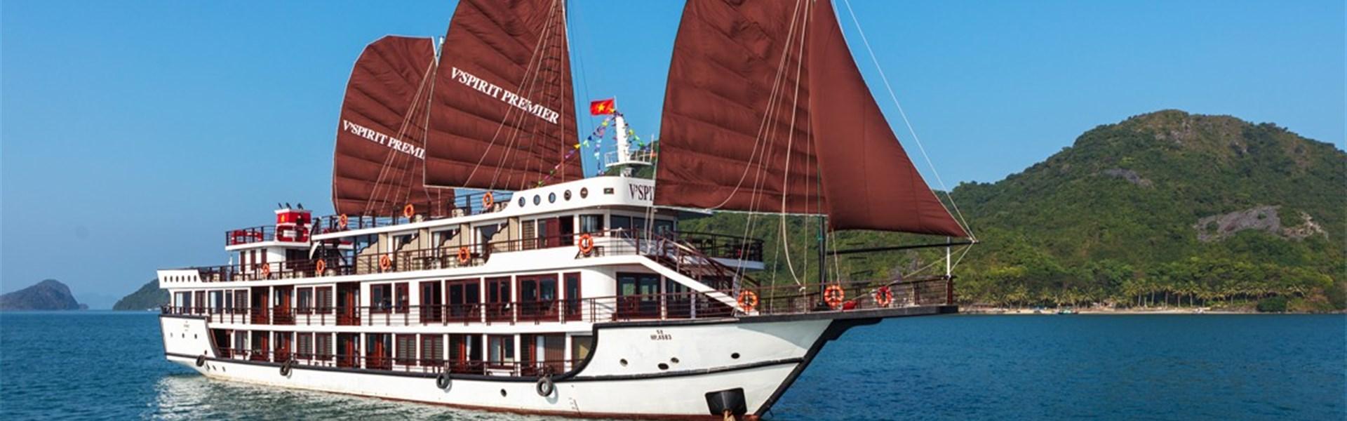 Stopover v Hanoji a plavba v zálivu Lan Ha - Hanoj - Lan Ha Bay - V´Spirit Cruices