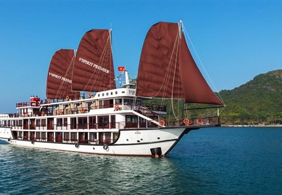 Stopover v Hanoji a plavba v zálivu Lan Ha -  - Hanoj - Lan Ha Bay - V´Spirit Cruices